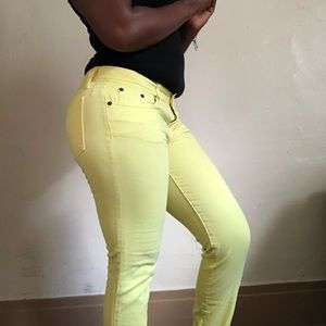 Neon yellow JCrew skinny jean